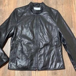 New Men's Calvin Klein CK Black GENUINE LEATHER